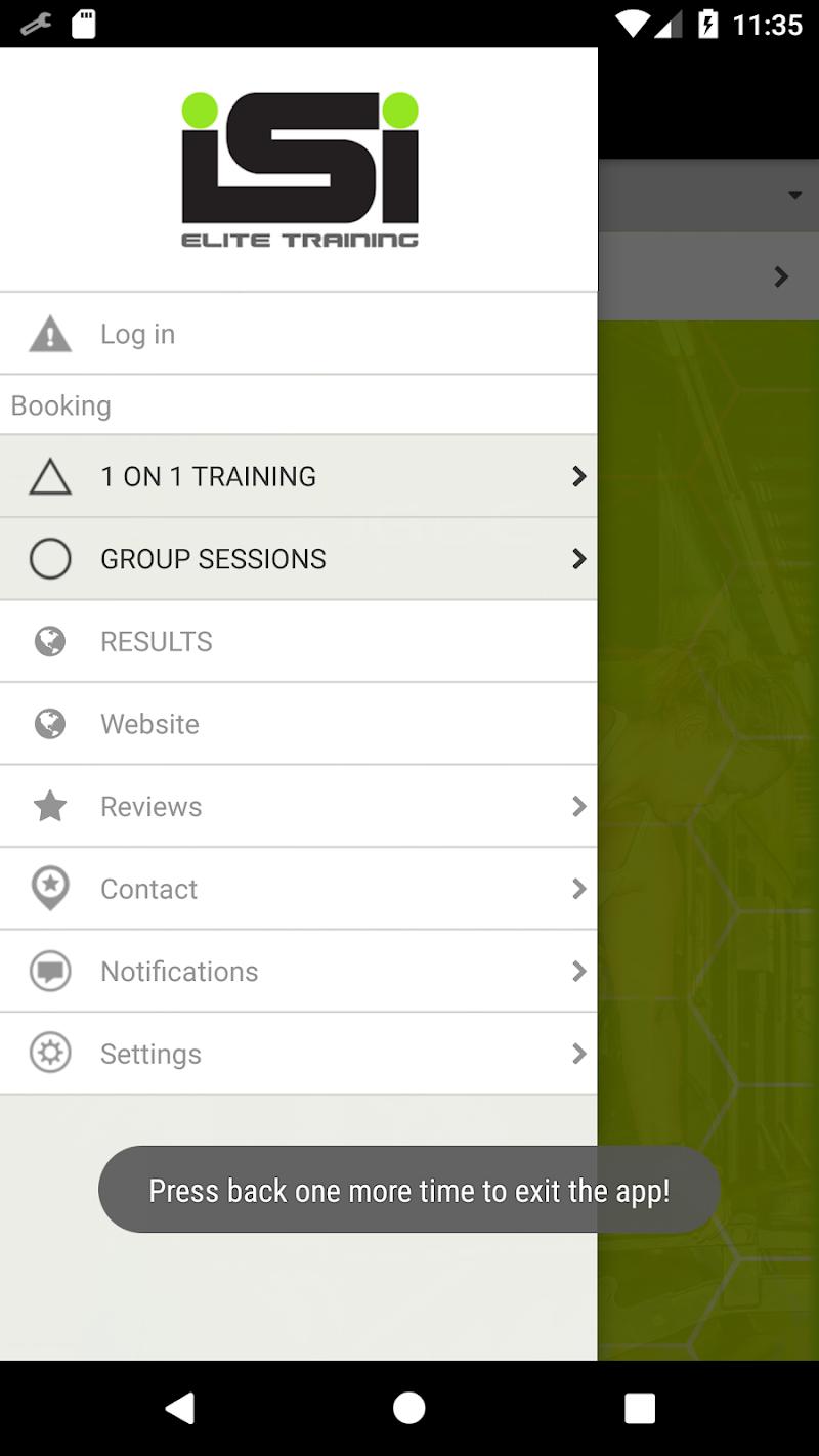 Скриншот ISI Elite Training