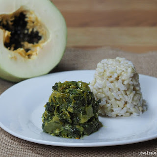 Green Papaya, Moringa Leaves Saute.