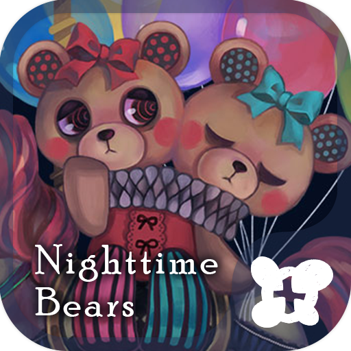 Cute wallpaper-Nighttime Bears Icon