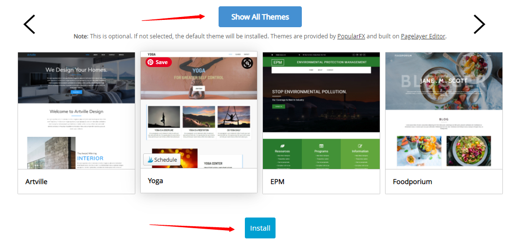 how to install theme to your new website