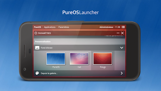 PureOS Launcher Screenshot