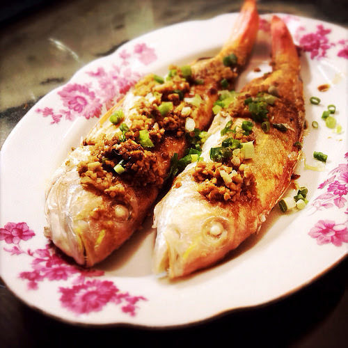 Chinese, Pan Fried, Fish, with, Sauce,  煎, 紅衫魚, fried fish, recipe