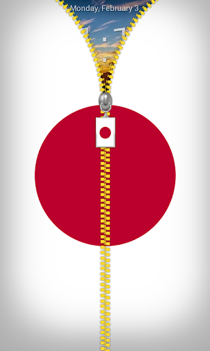 Japan Flag Zipper Lockscreen