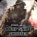Sharp sniper shooter icon