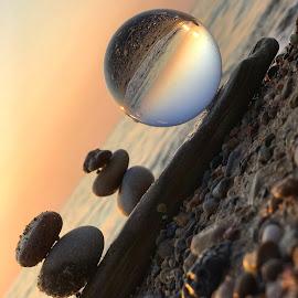 Relaxing Vibes  by Liana Lputyan - Instagram & Mobile iPhone ( indianadunes, michiganlake, sunset, beach, glassball, crystalball, stones, beachsunset, glassballphotography,  )