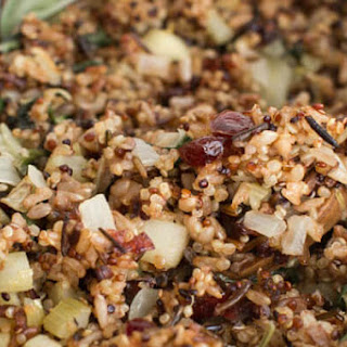 Wild Rice and Quinoa with Apple Cranberry and Greens