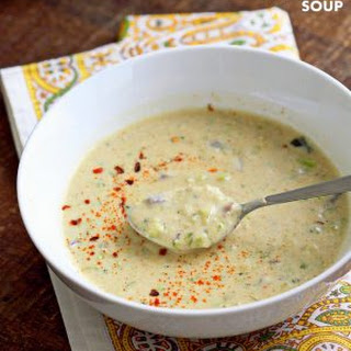 Spiced Creamy Broccoli Soup.