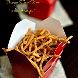 Kara Sev – Fried Spiced Chickpea Flour Sticks | A Diwali