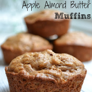 Healthy Apple Almond Butter Muffins.