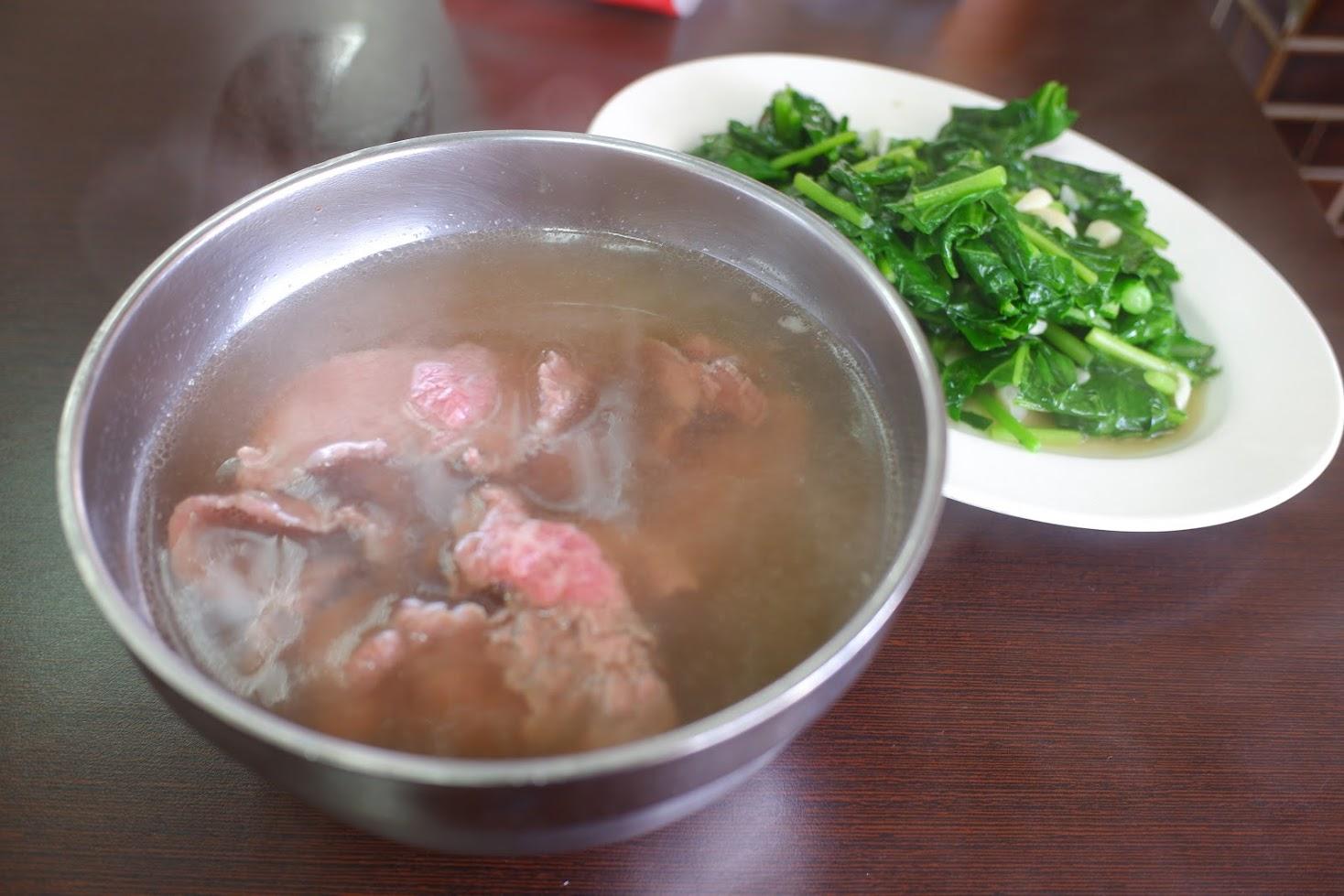 牛肉湯&青菜