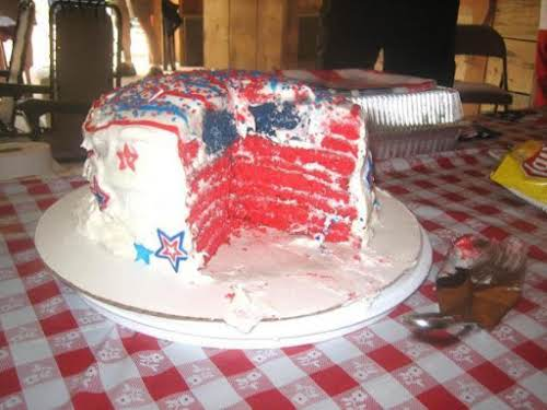 "Hidden Flag Torte Cake ""My brother's girlfriend and I made this cake..."