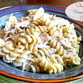 Slow Cooker Creamy Italian Chicken Pasta.