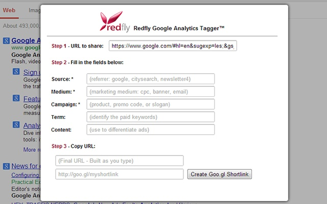 Redfly Tagger for Google Analytics™