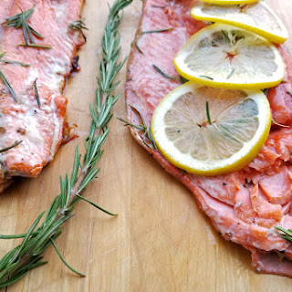 Salmon with Maple Syrup & Rosemary.