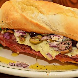Italian Submarine Sandwich.