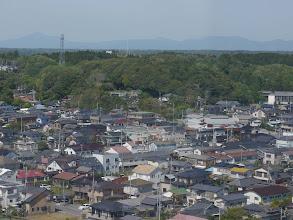 Photo: マリンタワーから見る筑波山。