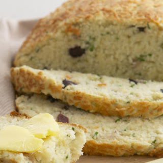 Parmesan and Olive Soda Bread