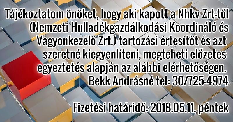 Szemétdíj szedés 2018.05.11