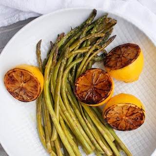 Oven-Roasted Asparagus with Charred Lemon Recipe