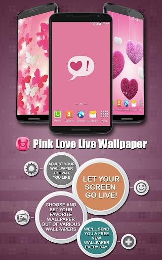 ピンクの愛ライブ壁紙