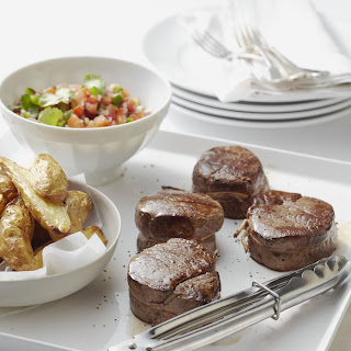 Steaks with Capsicum Salsa.