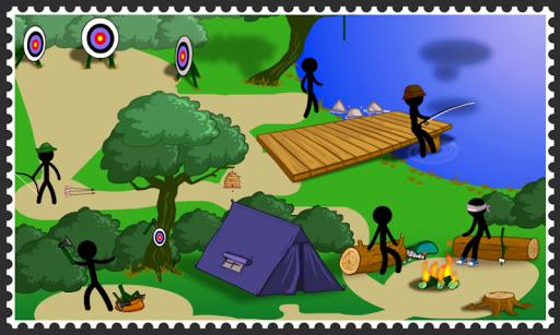 火柴人解謎之野外露營