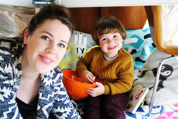 Blogger mum with her 3 year old boy