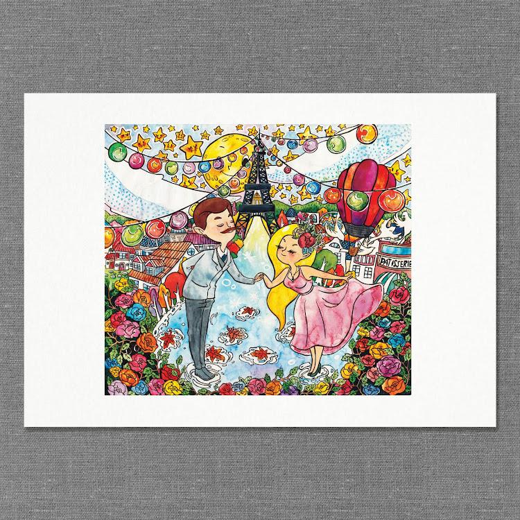 A3 Paper Print【C'est La'mour】 by Jeovine