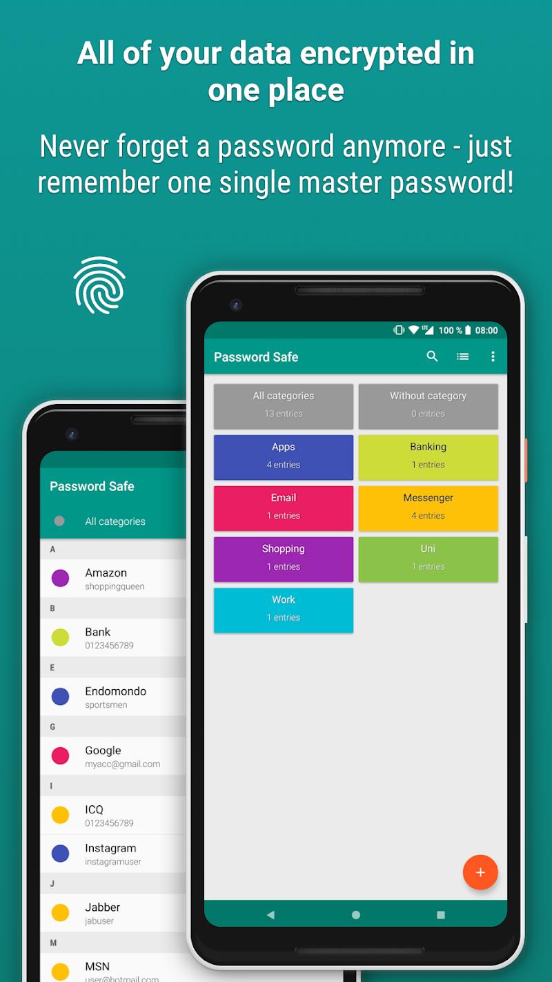 Password Safe and Manager Screenshot