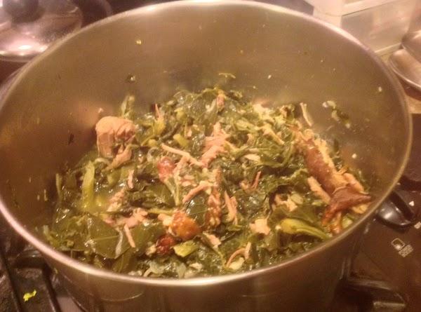 Collard Greens With Smoked Turkey & Ham Recipe