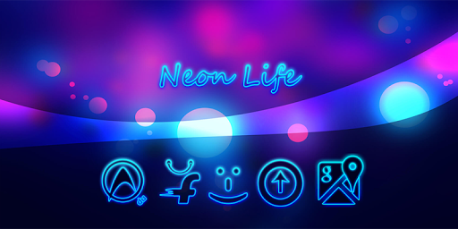 Neon Life Icon Pack Theme
