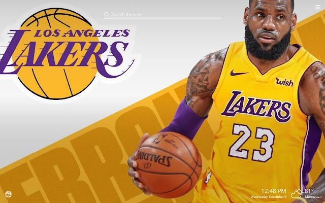 La Lakers Nba Hd Wallpapers New Tab Theme