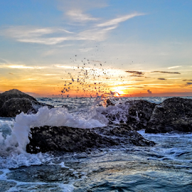 Summer Nights Along the gulf coast  by Jeffrey Lee - Landscapes Sunsets & Sunrises ( summer nights along the gulf coast )