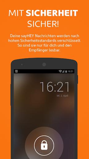 sayHEY gratis Messenger & SMS screenshot 3