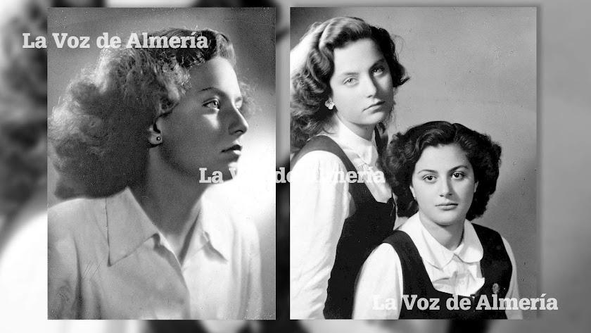 Leo Plaza tenía estampa de artista: rubia platino, ojos azules y un cuerpo impropio de la época. A la derecha, con su amiga Clara.
