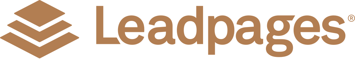 Leadpages Logo Brown