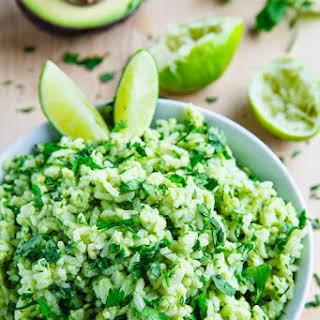 Avocado Cilantro Lime Rice.