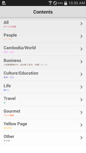プノン カンボジアのニュース マップ Phnom