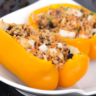 Grilled Quinoa Stuffed Peppers.