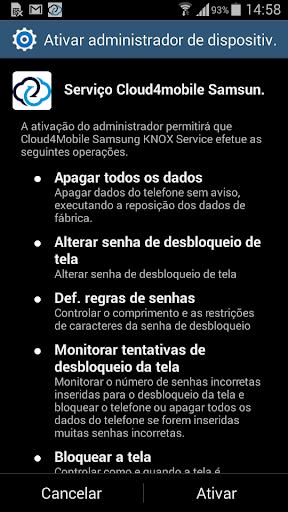 cloud4mobile - Serviço Samsung