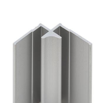 """DecoDesign - Zubehör Profil - Eckverbinder """"in Ecke"""" - Alu-Natur (01), Länge 2550 mm"""