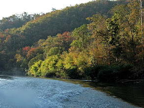 Photo: late afternoon light on the Pai River