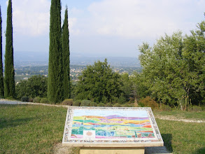 Photo: As in many village high points, there is this plaque – la table d'orientation – which provides information on the surrounding countryside.