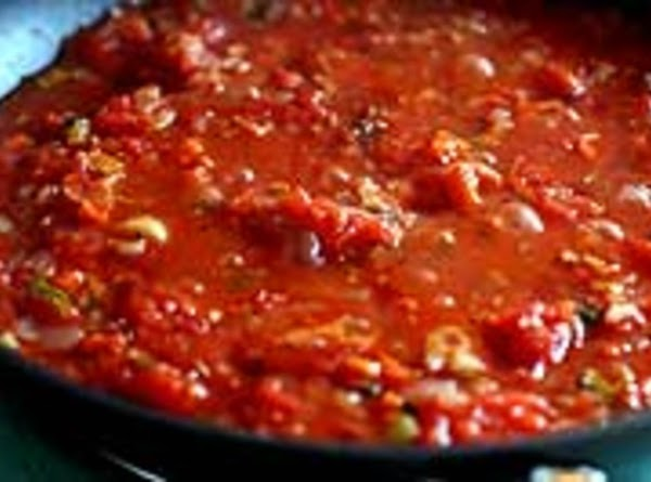 Tomato sauce  Method  1 Heat olive oil in a large wide skillet on medium heat. Add...