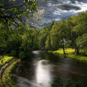 Betws-y-coed  below Angel falls north wales by Peter Wyatt - Landscapes Waterscapes ( countryside, waterscape, northwales, unitedkingdom, landscape, river )