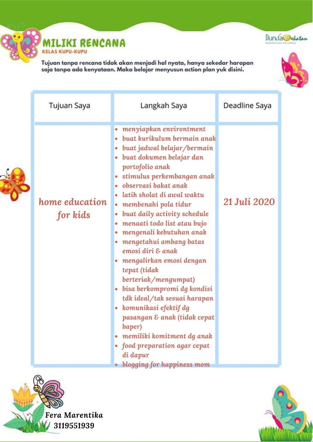 Jurnal Kupu-kupu 4: Tinjau Ulang Rencana