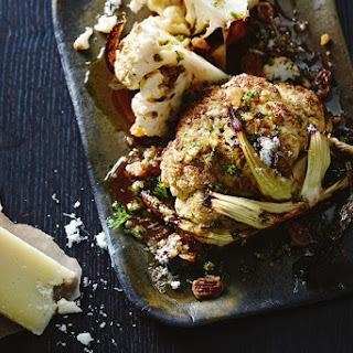 Roasted Whole Cauliflower With Manchego