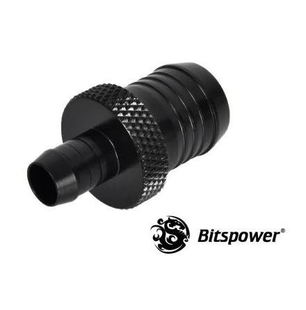 "Bitspower overgang, 1/2""ID til 1/4""ID, Matt Black"