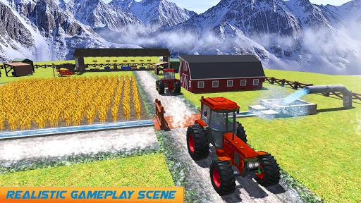 Snow Tractor Agriculture Simulator screenshot 6