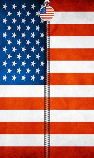 US Flag Zipper UnLock